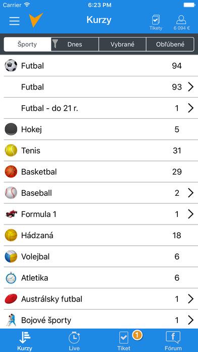 Tipsport mobilná aplikácia