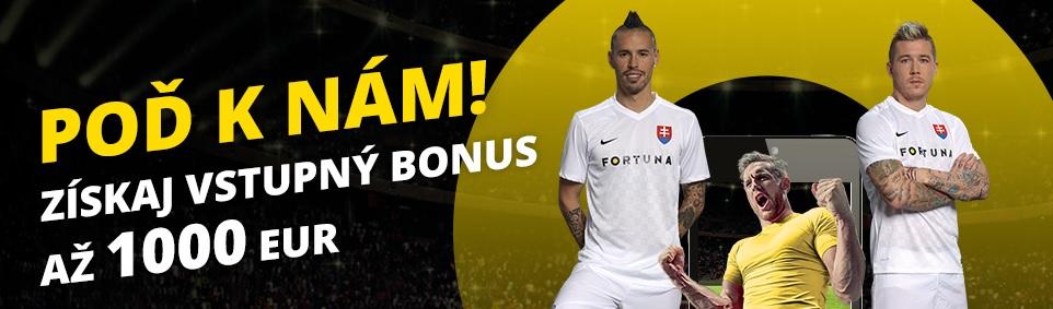 Fortuna bonus do 1 000 €