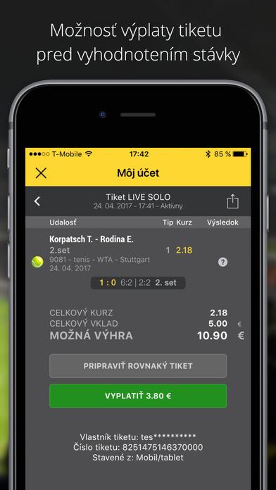 iFortuna mobilná aplikácia