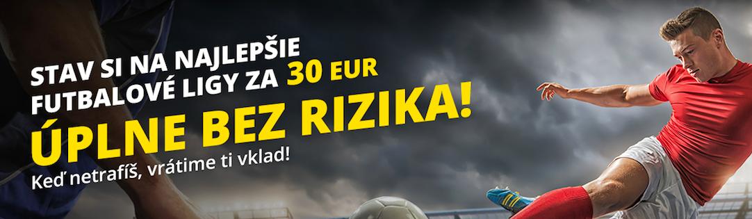 Fortuna bonus bez rizika 30 €