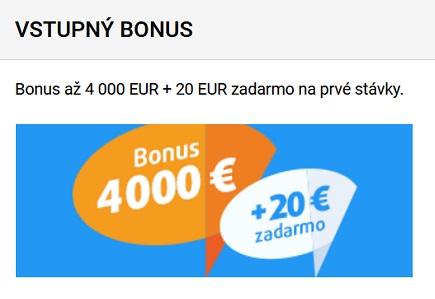 Tipsport recenzie - vstupné bonusy