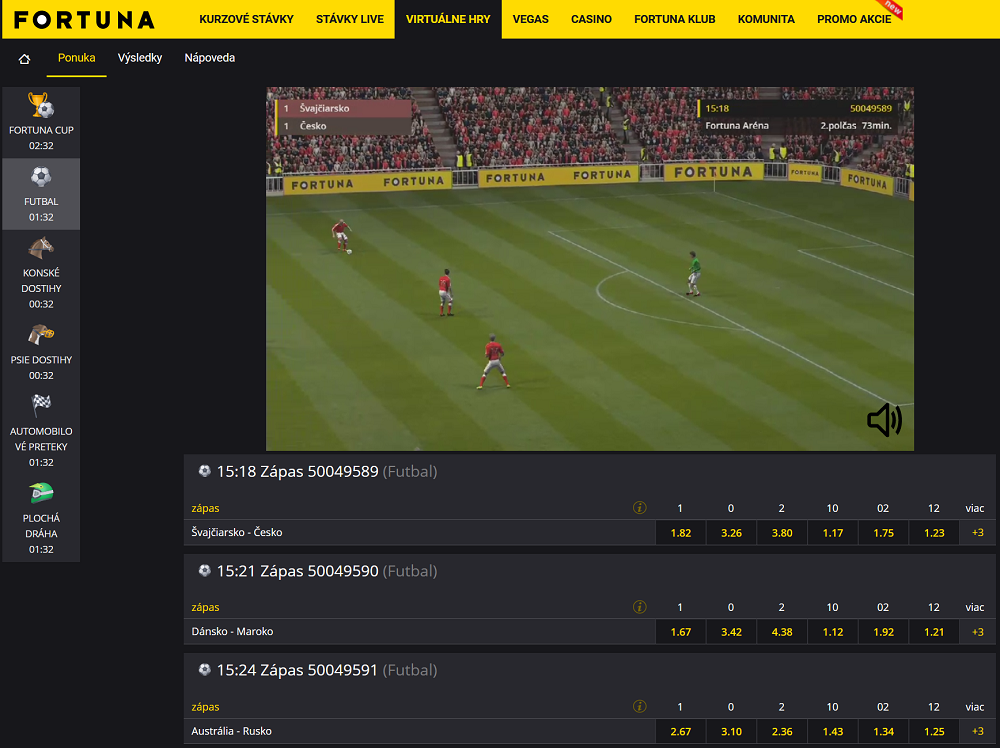 Virtuálne hry na Fortuna online